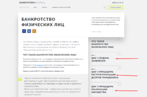 Процедура Банкротства физ. лиц